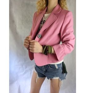 LIKE NEW Tahari Pink Peplum Button Modest Blazer !